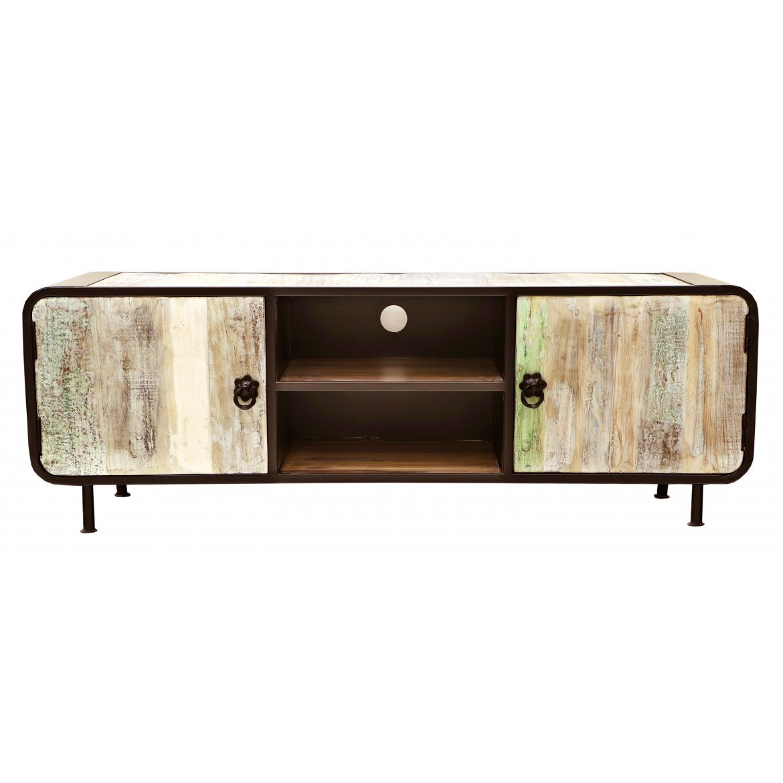 indickynabytek.cz - TV stolek Retro 160x55x45 z recyklovaného mangového dřeva Holy wood