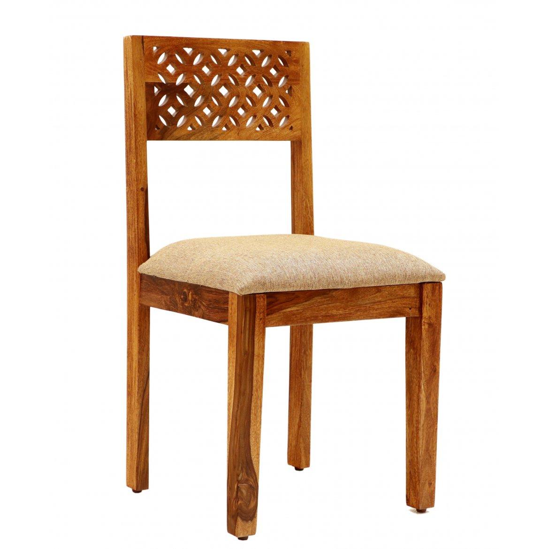 Levně Židle Mira s polstrovaným sedákem z indického masivu palisandr / sheesham Natural
