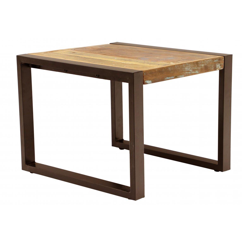 Konferenční stolek Retrospective 60x45x60 z recyklovaného mangového dřeva