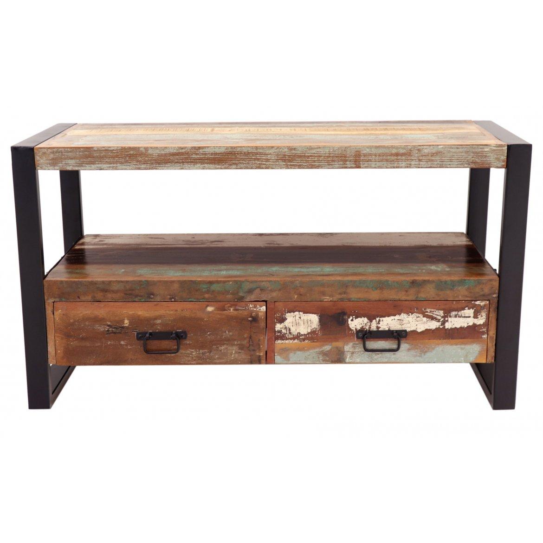 TV stolek Retrospective 100x60x45 z recyklovaného mangového dřeva