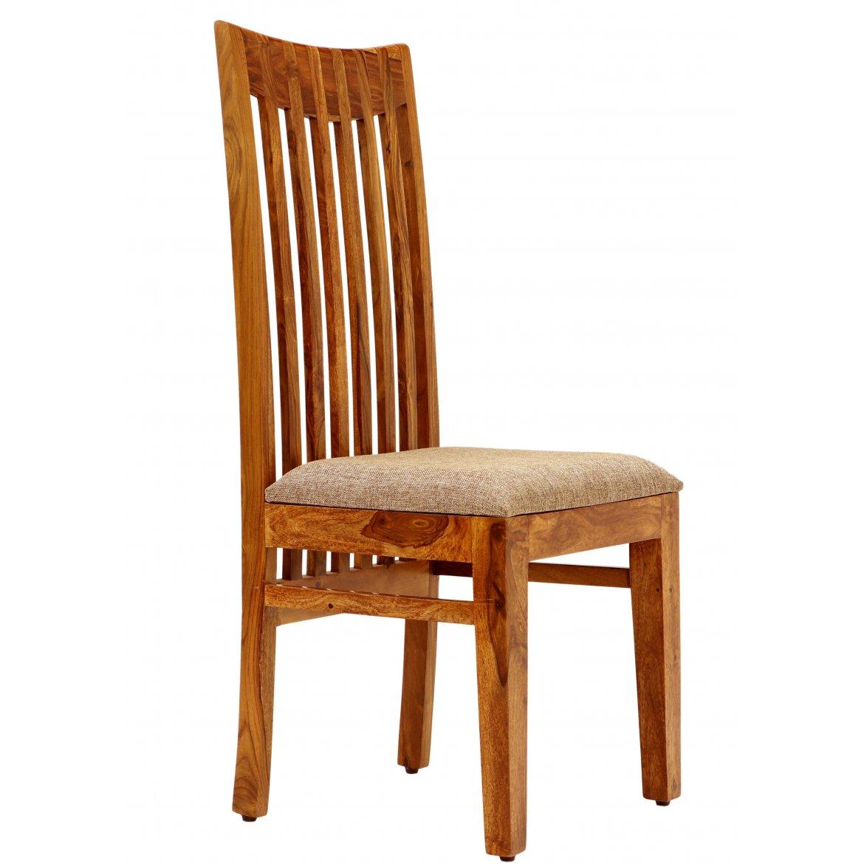 Židle s polstrovaným sedákem z indického masivu palisandr