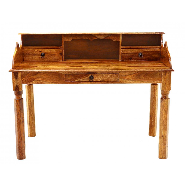 Psací stůl Jeely 130x100x70 z indického masivu palisandr