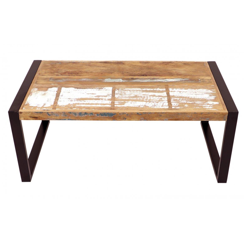 Konferenční stolek Retrospective 110x45x60 z recyklovaného mangového dřeva