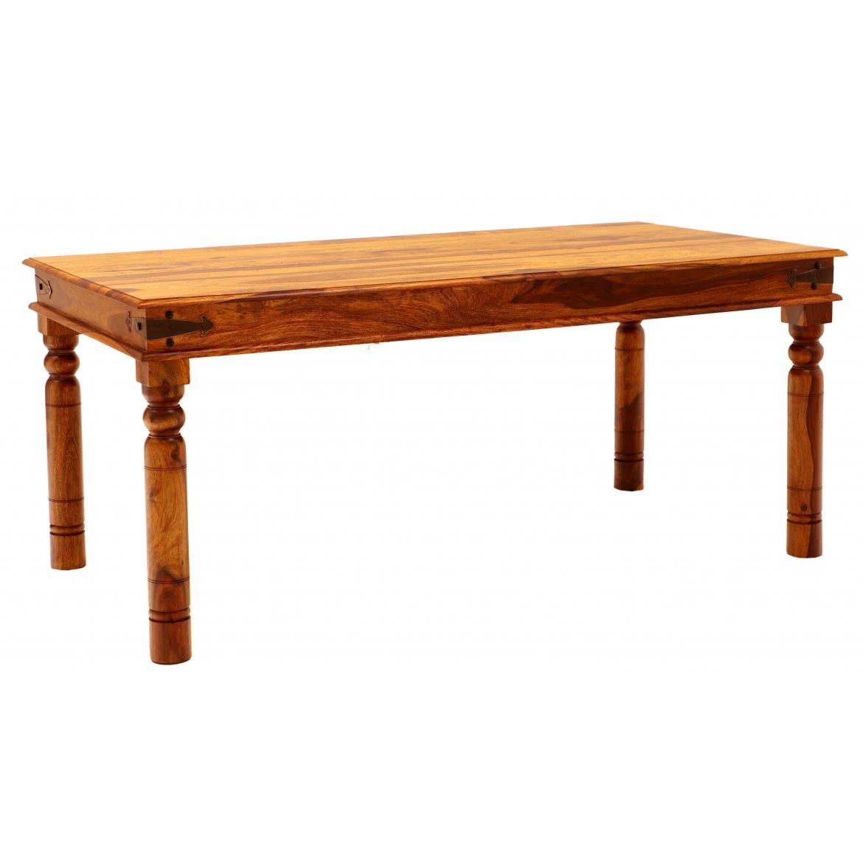 indickynabytek.cz - Jídelní stůl Jali 200x90 z indického masivu palisandr / sheesham Natural