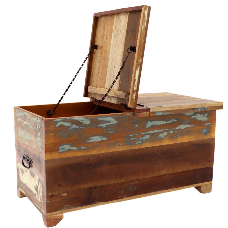 Truhlice Retrospective 90x45x45 z recyklovaného mangového dřeva