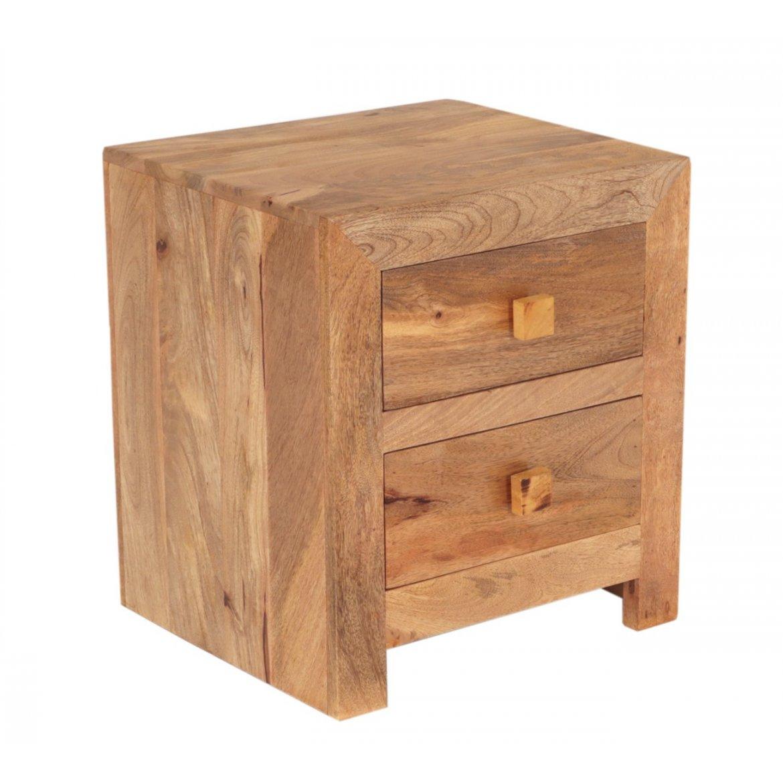 indickynabytek.cz - Noční stolek Hina 45x50x40 z mangového dřeva Mango natural
