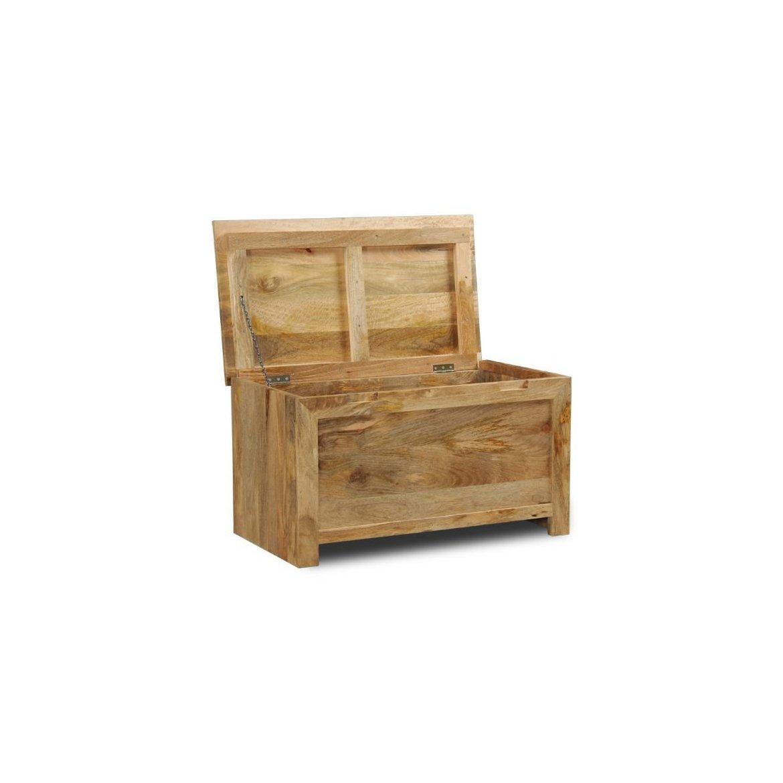 Truhlice Ghina 90x45x45 z mangového dřeva