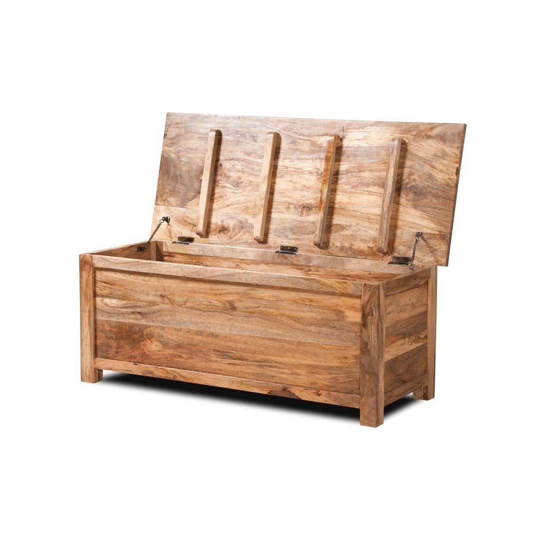 Truhlice Ghina 120x45x45 z mangového dřeva