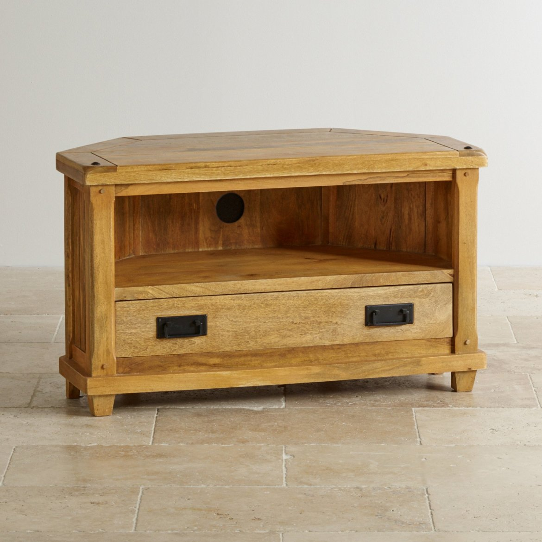 TV stolek rohový Devee 110x60x50 z mangového dřeva