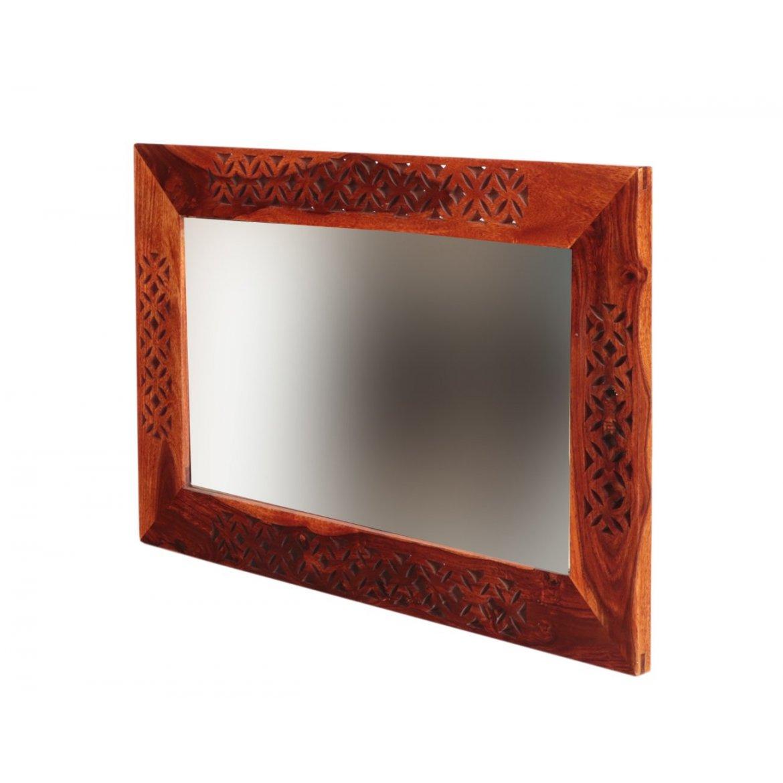 Zrcadlo Miracle 60x90 z indického masivu palisandr