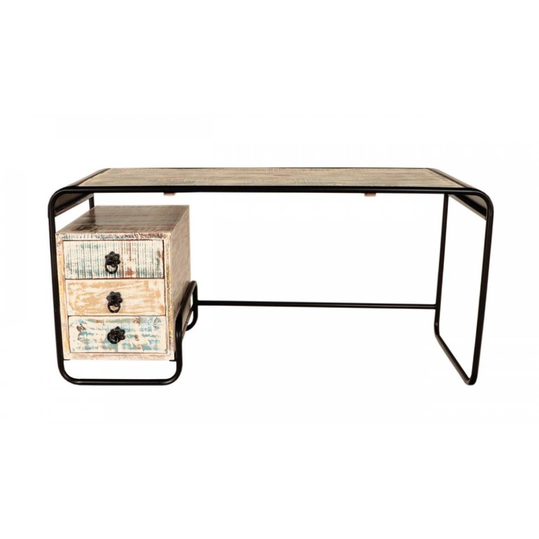 indickynabytek.cz - Psací stůl Retro 160x76x70 z recyklovaného mangového dřeva Old spice