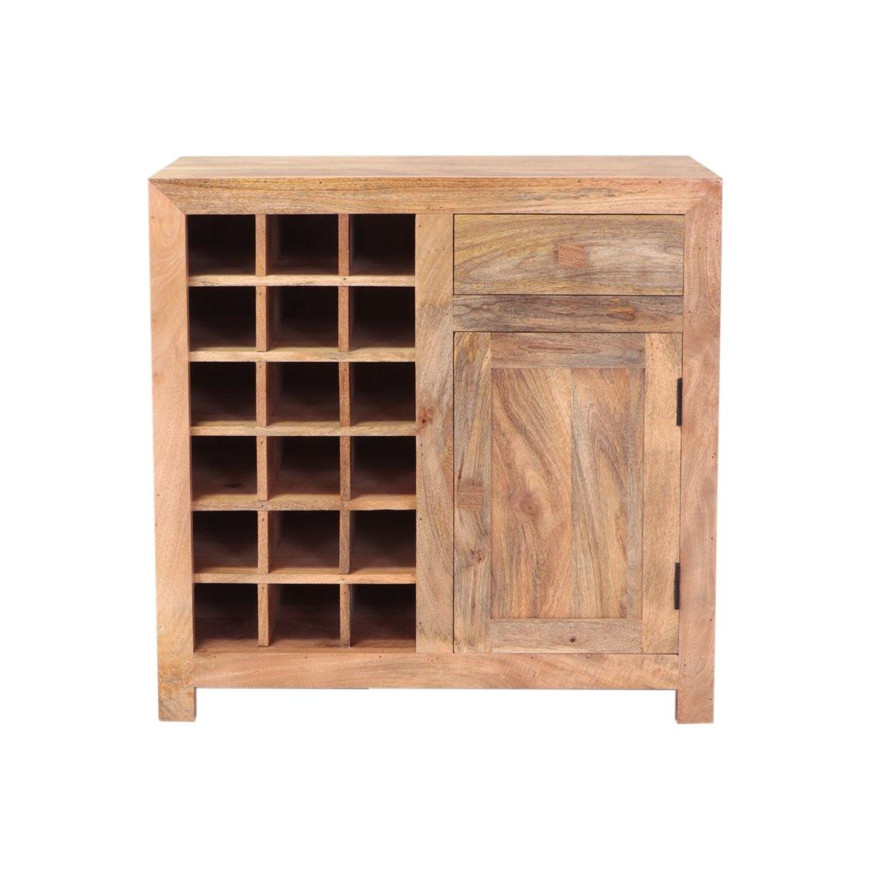 indickynabytek.cz - Barová skříň Hina 90x90x45 z mangového dřeva Mango natural