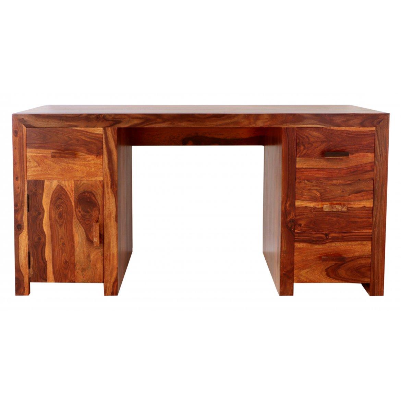 indickynabytek.cz - Psací stůl Kali 160x80x76 z indického masivu palisandr / sheesham Natural