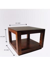 Konferenční stolek 60x60x45 z indického masivu palisandr