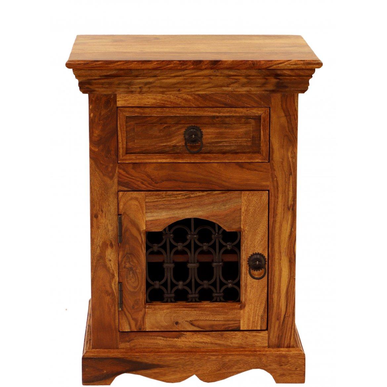 indickynabytek.cz - Noční stolek Jali 45x60x40 z indického masivu palisandr / sheesham Only stain