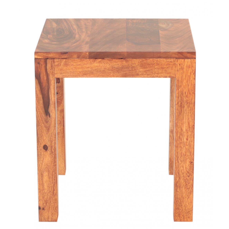 Levně Odkládací stolek Gani 40x45x40 z indického masivu palisandr / sheesham Ořech