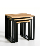 Odkládací stolky 3 ks Dhari Natura mangového dřeva