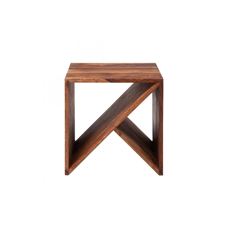 Odkládací stolek Kaliq 40x40x35 z indického masivu palisandr