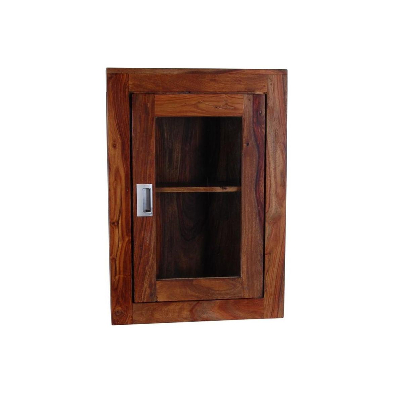 Nástěnná skříňka do koupelny Nelith 40x60x15 z indického palisandru