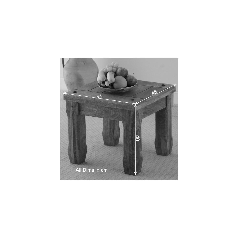 Odkládací stolek Devee 45x40x45 z mangového dřeva