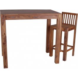 Barový jídelní stůl 120x75x110 z indického masivu palisandr