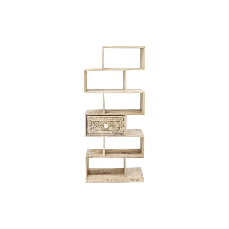 Knihovna Manu z mangového dřeva