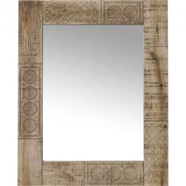Zrcadlo Manu 90x60 z mangového dřeva