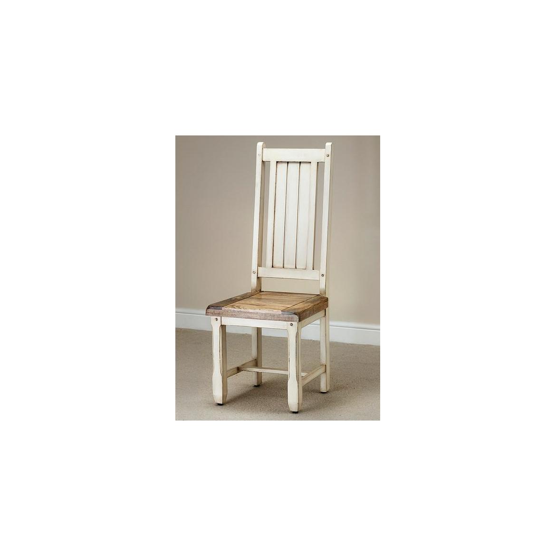 Židle Dhari White z mangového dřeva