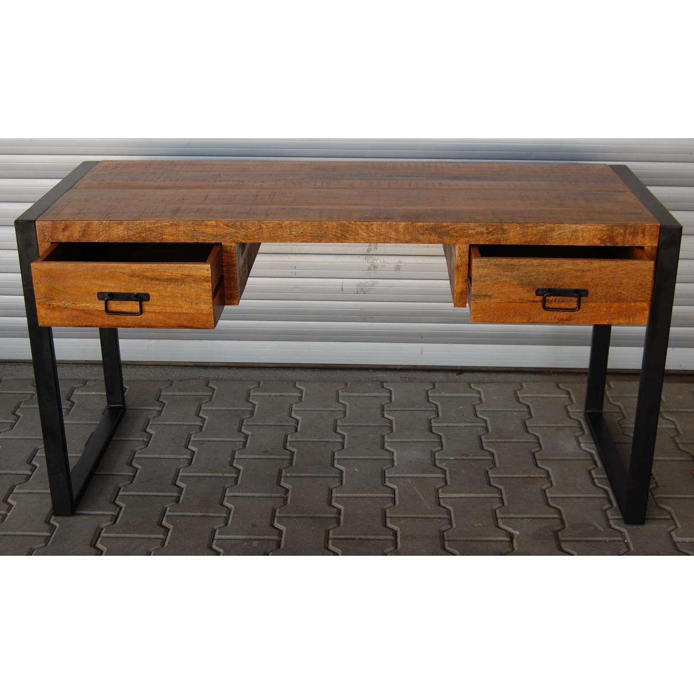 Psací stůl Retrospective 160x76x70 z indického masivu mango