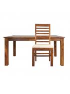 Židle Rami s polstrovaným sedákem z indického masivu palisandr
