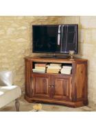 TV stolek rohový z indického masivu palisandr