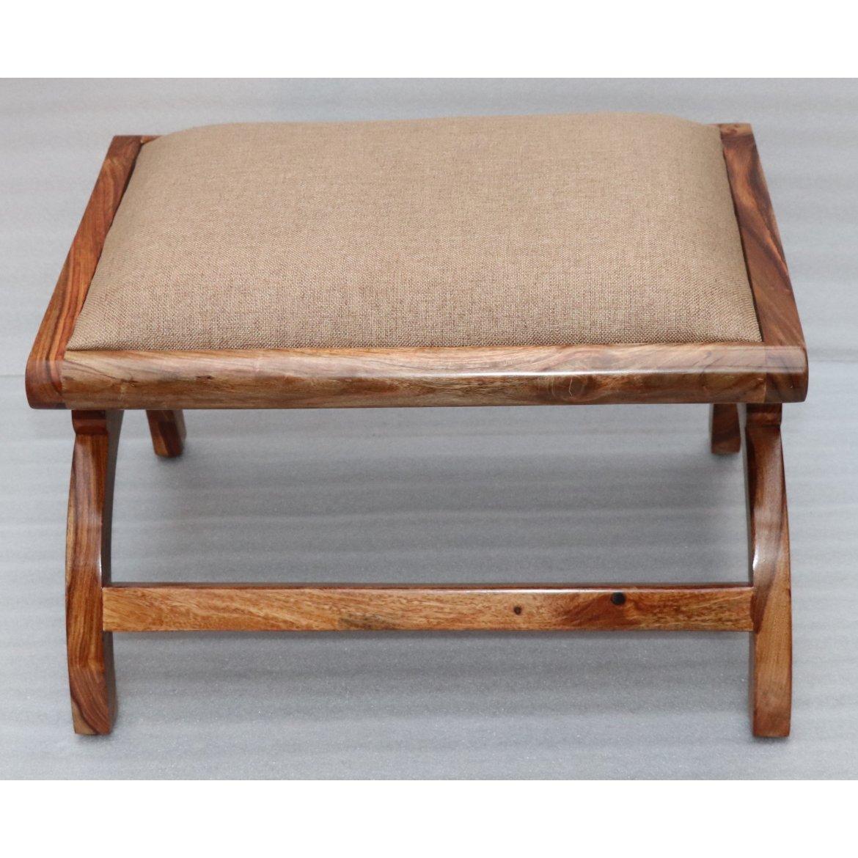 Polstrovaný taburet 60x45x35 z masivu palisandr